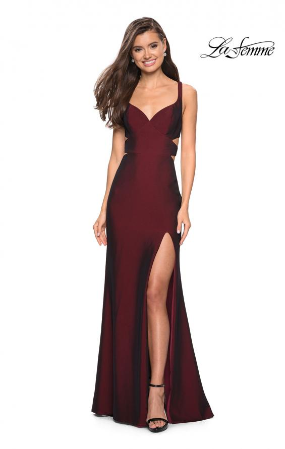 Picture of: Long Jersey Prom Dress with Side Cut Outs, Style: 27785, Main Picture