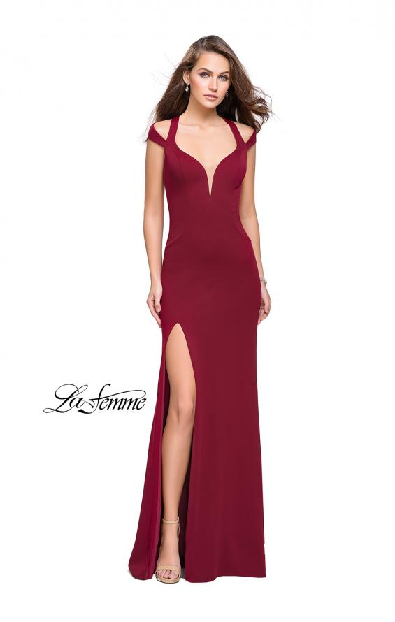 Picture of: Jersey Prom Dress with Off the Shoulder Straps, Style: 25761, Detail Picture 1