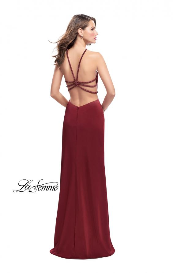 Picture of: Jersey Prom Dress with Beaded Straps and High Neckline, Style: 25698, Detail Picture 3