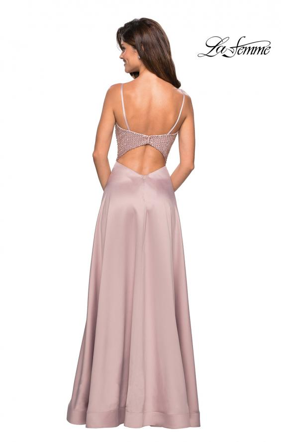 Picture of: Floor Length Prom Dress with Beaded Bust Detail, Style: 27293, Back Picture