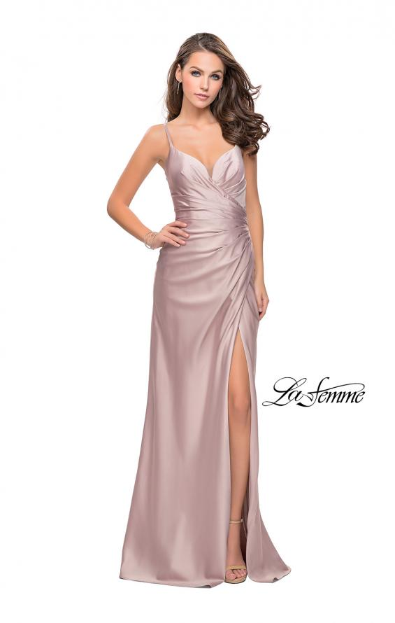 Picture of: Satin Slip Prom Dress with Strappy Back, Style: 25270, Detail Picture 3