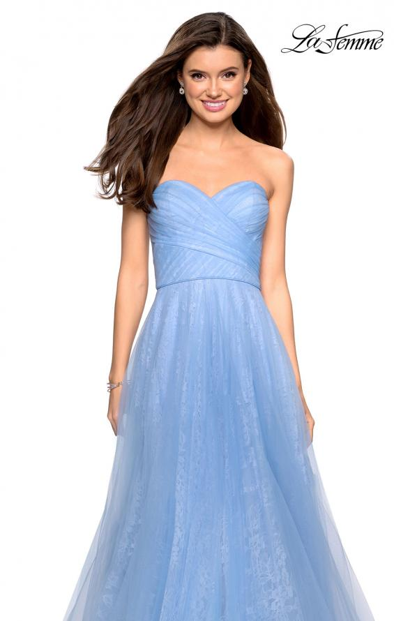Picture of: Strapless Lace Ball Gown with Sweetheart Neckline in Cloud Blue, Style: 27135, Detail Picture 1