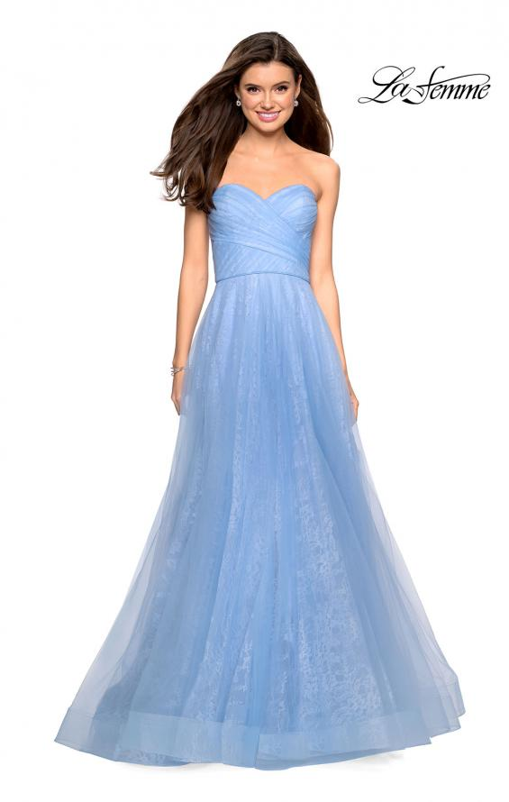 Picture of: Strapless Lace Ball Gown with Sweetheart Neckline in Cloud Blue, Style: 27135, Detail Picture 5