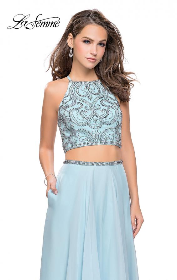 Picture of: Long Two Piece Dress with Beading and Strappy Back, Style: 25469, Main Picture