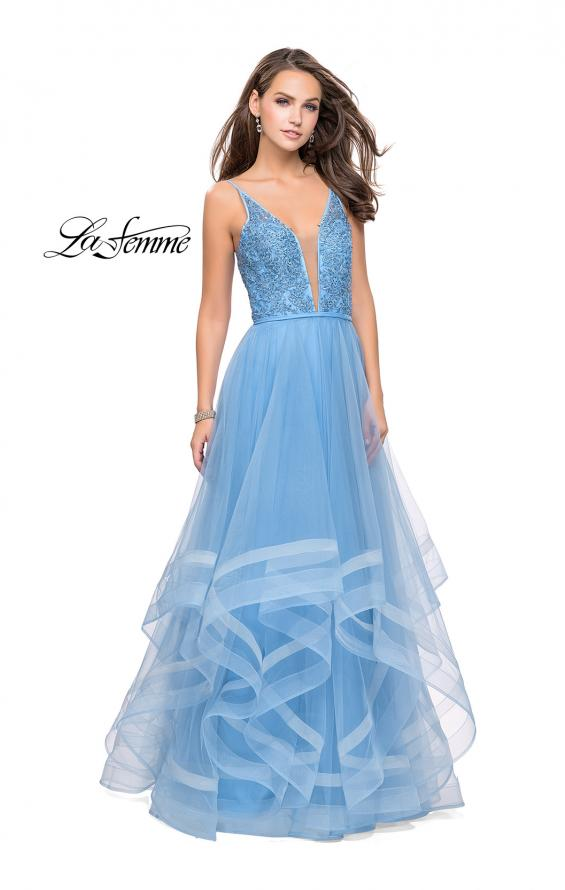 Picture of: Prom Dress with Tulle Skirt and Lace Beaded Bodice, Style: 25639, Detail Picture 1