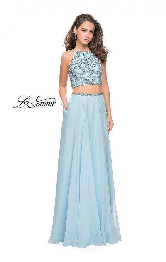Picture of: Long Two Piece Dress with Beading and Strappy Back, Style: 25469, Detail Picture 3