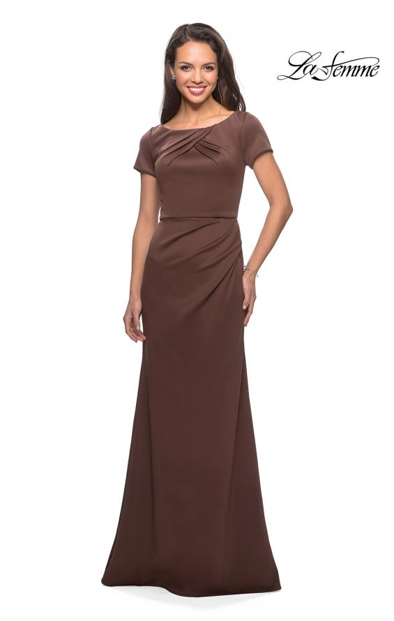 Picture of: Elegant Long Jersey Dress with Short Sleeves, Style: 27067, Detail Picture 1