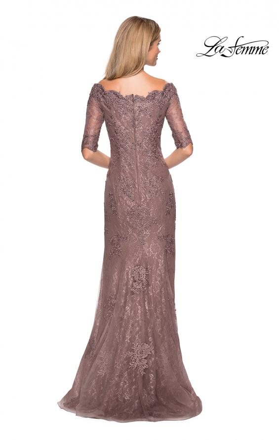 Picture of: Floor Length Lace Dress with Rhinestone Accents, Style: 26943, Detail Picture 2