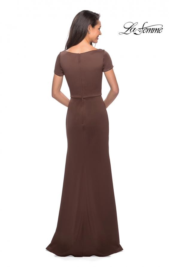 Picture of: Elegant Long Jersey Dress with Short Sleeves, Style: 27067, Detail Picture 2