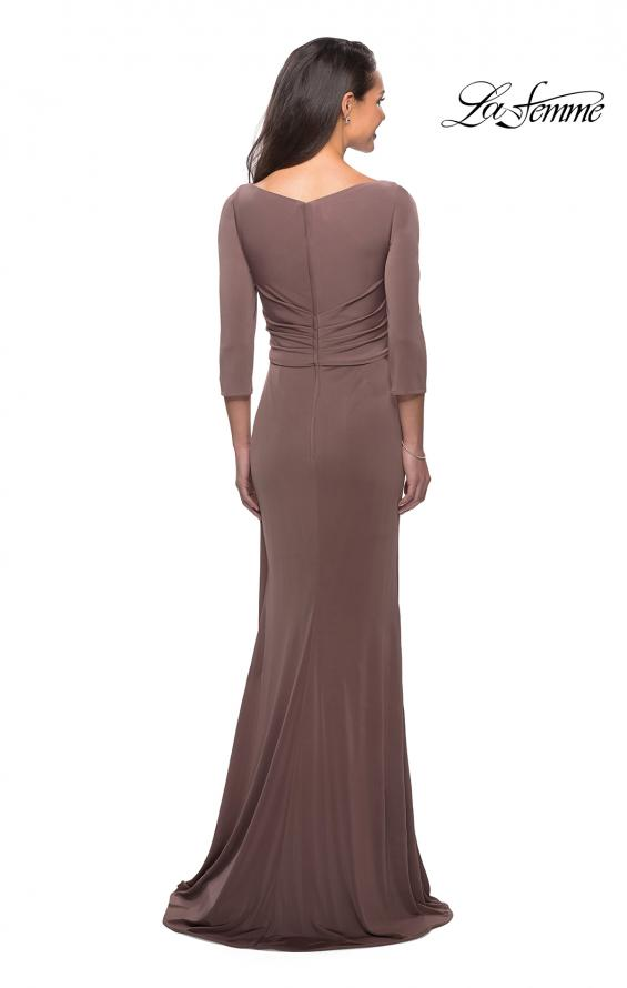 Picture of: 3/4 Sleeve Long Jersey Dress with Sweetheart Neckline, Style: 26955, Detail Picture 3