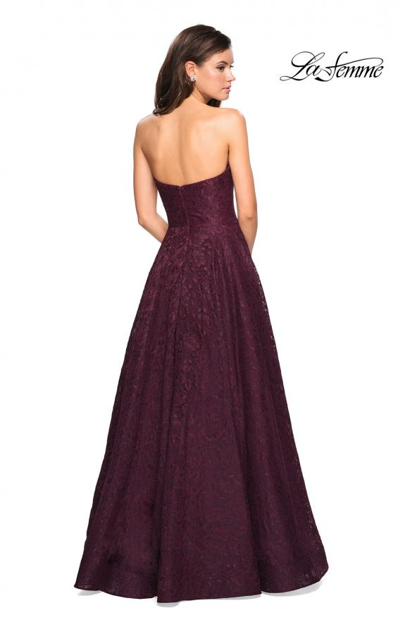 Picture of: A Line Lace Strapless Ball Gown, Style: 27284, Detail Picture 3