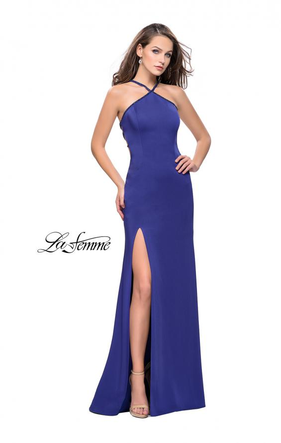 Picture of: Jersey Prom Dress with Beaded Straps and High Neckline, Style: 25698, Detail Picture 5