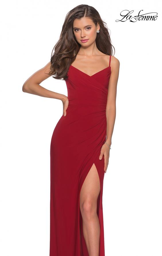 Picture of: Long Sequined Dress with Sweetheart Neckline in Deep Red, Style: 27879, Main Picture