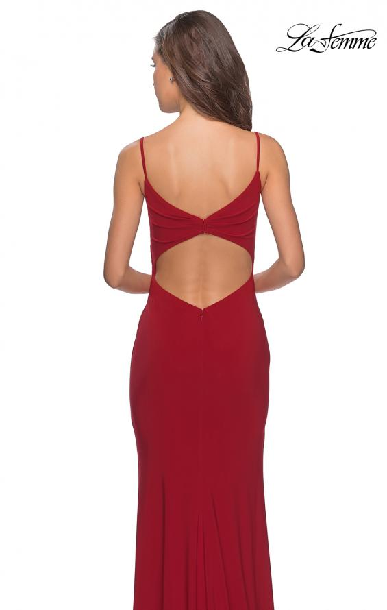 Picture of: Long Sequined Dress with Sweetheart Neckline in Deep Red, Style: 27879, Back Picture