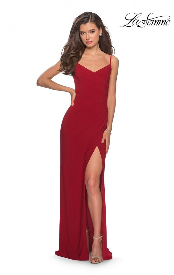 Picture of: Long Sequined Dress with Sweetheart Neckline in Deep Red, Style: 27879, Detail Picture 5