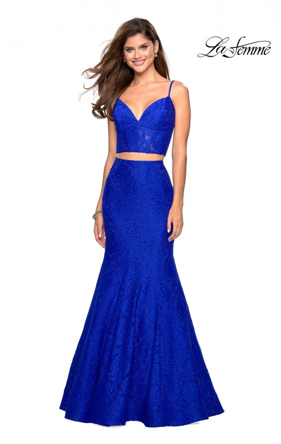 Picture of: Lace Two Piece Gown with Rhinestone Accents, Style: 27589, Main Picture