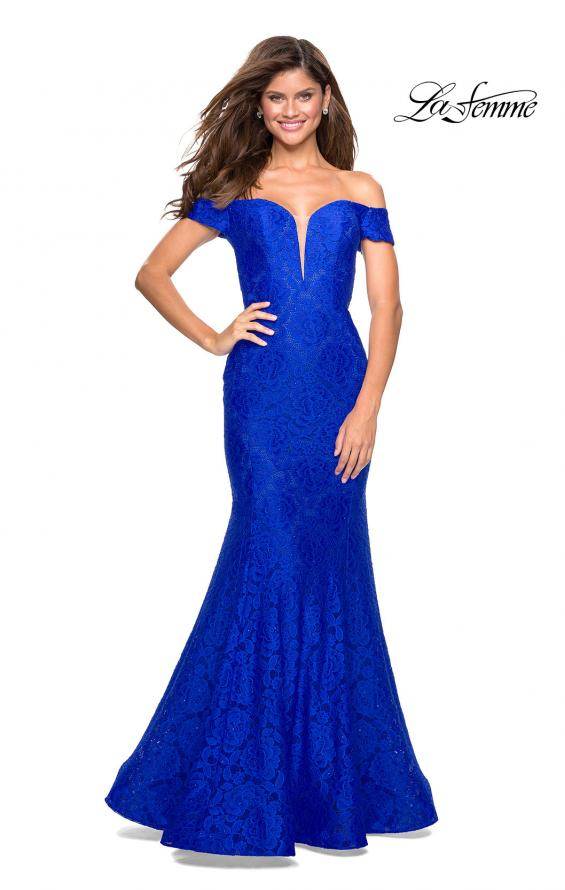 Picture of: Stretch Lace Off the Shoulder Mermaid Prom Dress, Style: 27613, Main Picture