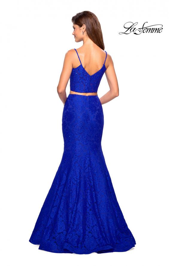 Picture of: Lace Two Piece Gown with Rhinestone Accents, Style: 27589, Back Picture