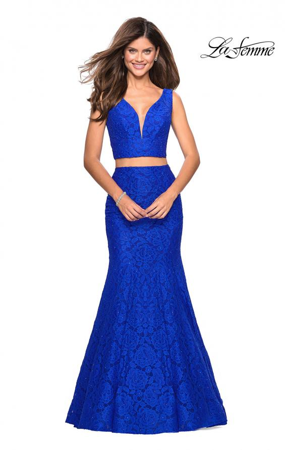 Picture of: Sweetheart Neckline Two Piece Long Lace Prom Dress, Style: 27262, Detail Picture 2