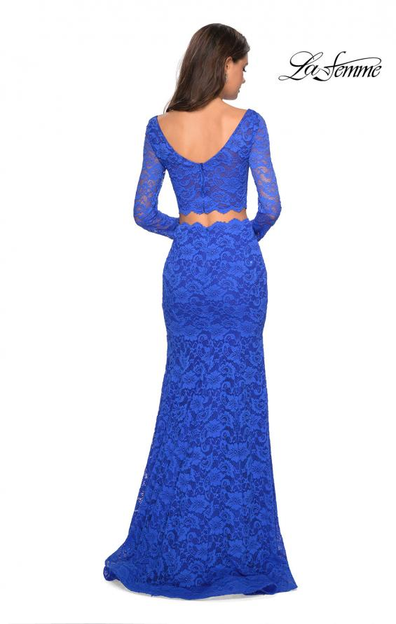 Picture of: Stretch Lace Long Sleeve Two Piece Prom Dress, Style: 27601, Detail Picture 6