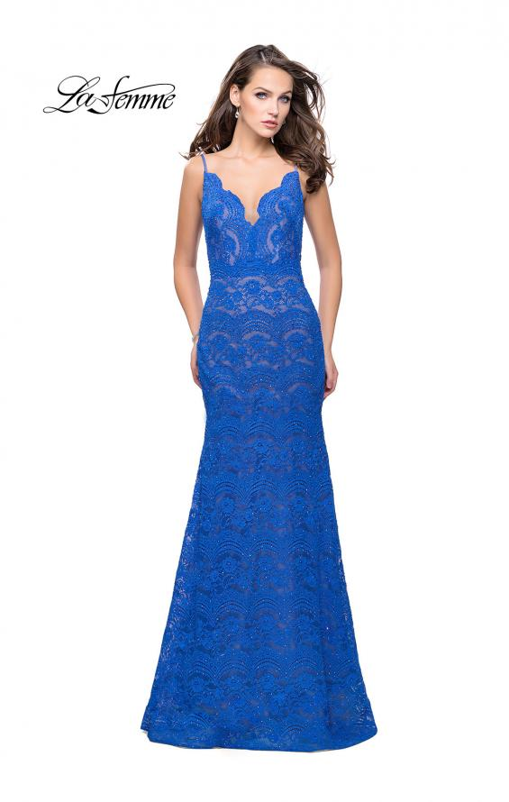 Picture of: Beaded Lace Prom Dress with Mermaid Skirt, Style: 26106, Detail Picture 1