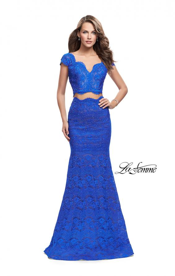 Picture of: Two Piece Mermaid Dress with Metallic Beading, Style: 25918, Detail Picture 4