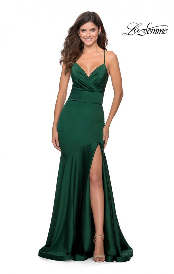 Picture of: Prom Dress with Ruching and Sweetheart Neckline in Emerald, Style: 28720, Detail Picture 2
