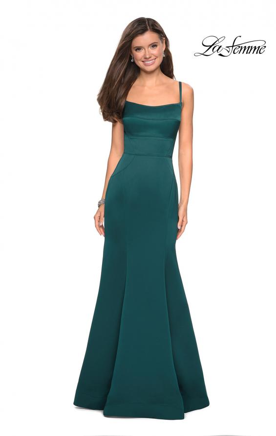 Picture of: Fitted Long Dress with Seams and Large Gold Zipper, Style: 27524, Detail Picture 3