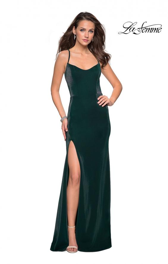 Picture of: Simple Jersey Prom Gown with Criss Cross Open Back, Style: 27179, Back Picture