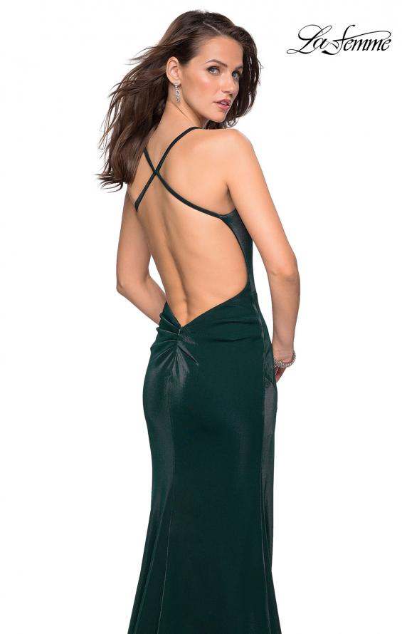 Picture of: Simple Jersey Prom Gown with Criss Cross Open Back, Style: 27179, Detail Picture 1