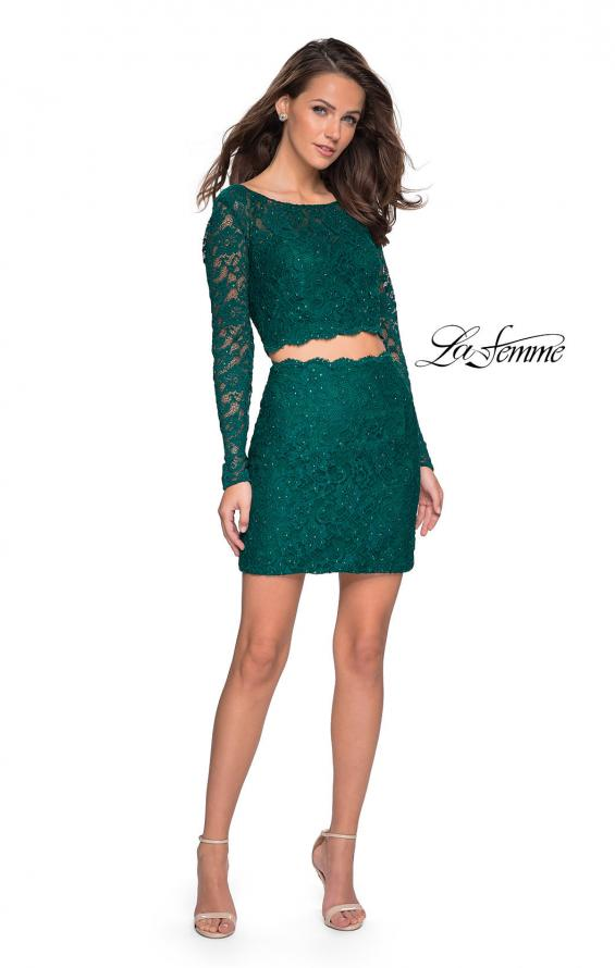 Picture of: Long Sleeve Two Piece Dress with Rhinestone Detail, Style: 26767, Detail Picture 1