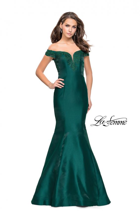 Picture of: Off The Shoulder Mikado Mermaid Gown with Lace, Style: 26001, Detail Picture 1