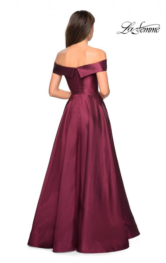 Picture of: Long Off The Shoulder Gown with Pockets, Style: 27005, Back Picture