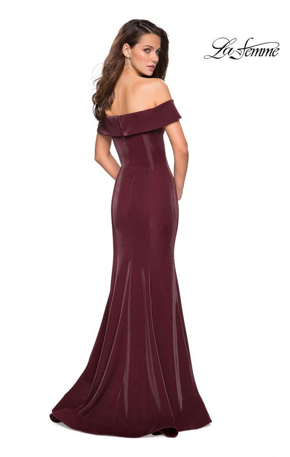 Picture of: Off The Shoulder Long Jersey Prom Dress, Style: 27176, Back Picture