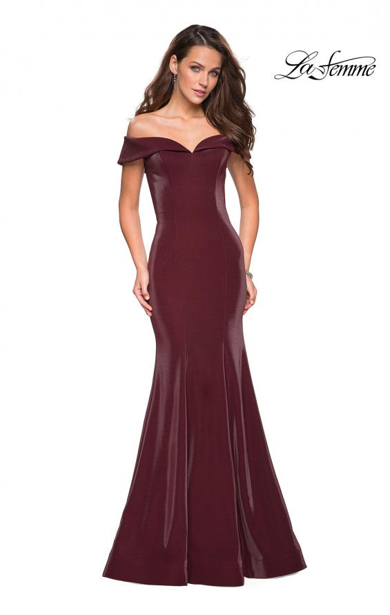 Picture of: Off The Shoulder Long Jersey Prom Dress, Style: 27176, Detail Picture 1