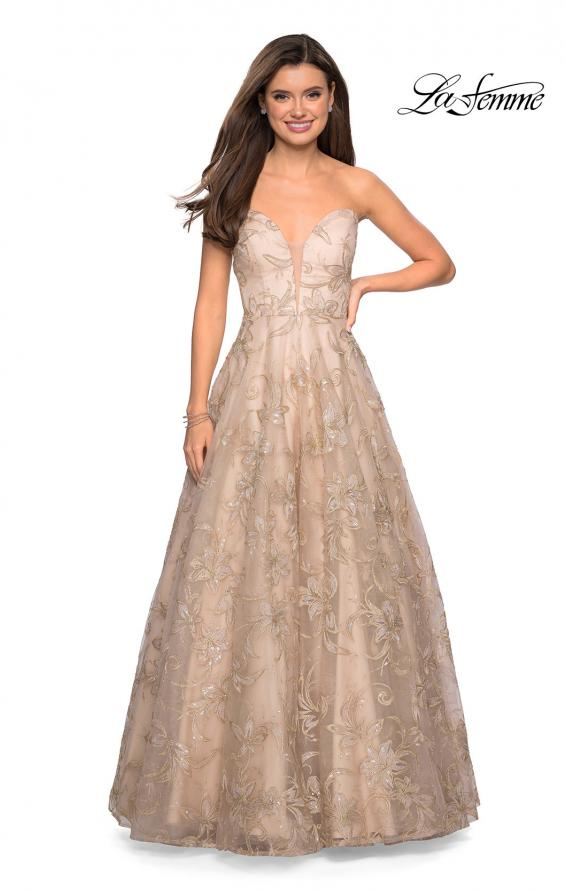 Picture of: Strapless A-Line Embroidered Prom Dress, Style: 27640, Main Picture