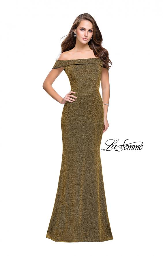 Picture of: Long Off the Shoulder Prom Dress with Flare Bottom, Style: 25444, Detail Picture 4