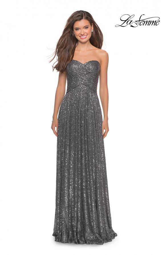 Picture of: Long Sequined Dress with Sweetheart Neckline, Style: 27879, Main Picture