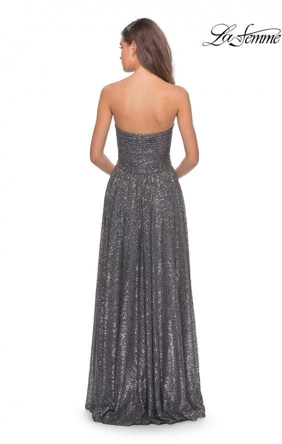 Picture of: Long Sequined Dress with Sweetheart Neckline, Style: 27879, Back Picture