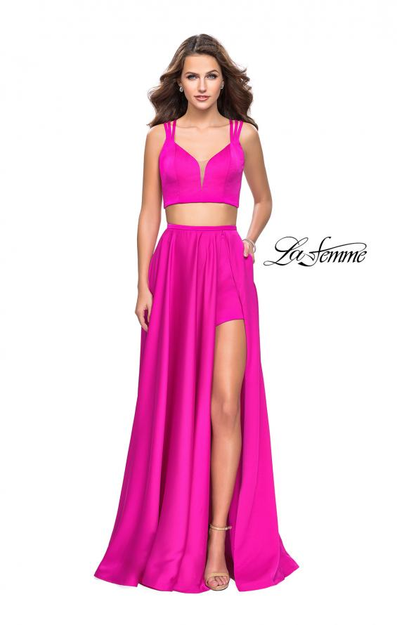 Picture of: Two Piece Prom Dress with Shorts and Strappy Back, Style: 25288, Detail Picture 1