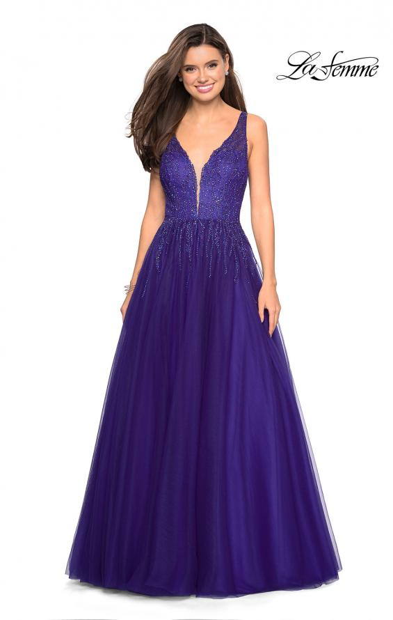 Picture of: A-Line Prom Dress with Rhinestones and Deep V Back, Style: 27688, Main Picture