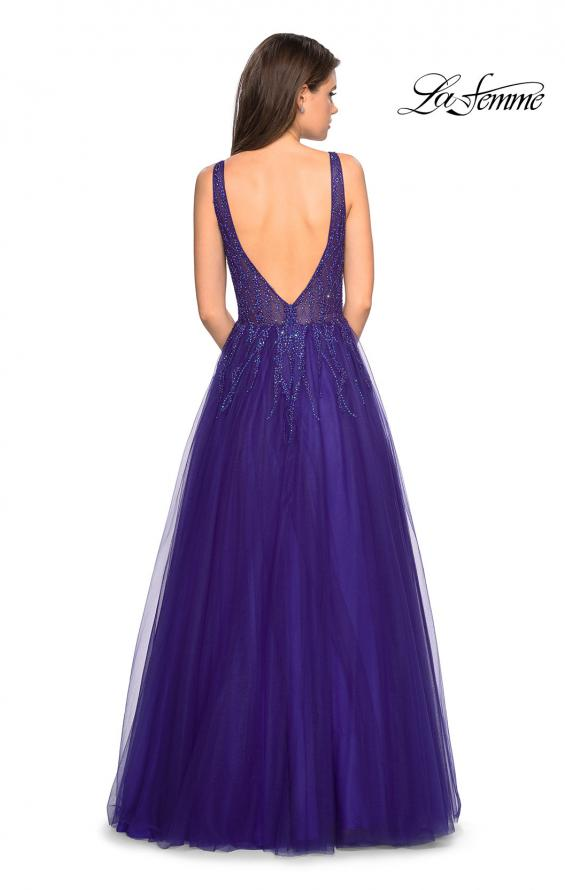 Picture of: A-Line Prom Dress with Rhinestones and Deep V Back, Style: 27688, Detail Picture 6
