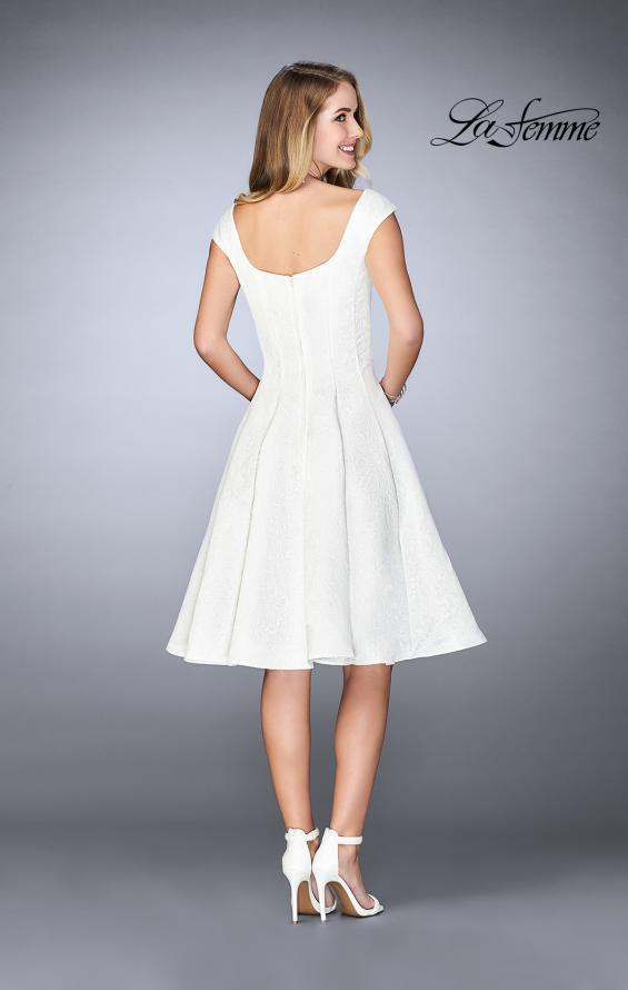 Picture of: Knee Length Evening Dress with Pockets in Ivory, Style: 24898, Detail Picture 2