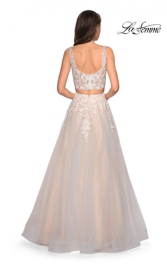 Picture of: Two Piece Tulle Dress with Cascading Applique Detail, Style: 27635, Back Picture