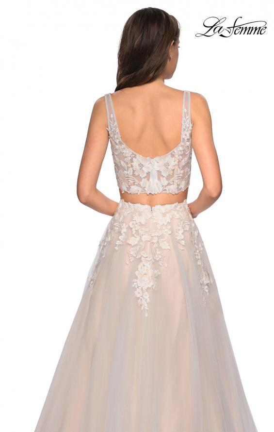 Picture of: Two Piece Tulle Dress with Cascading Applique Detail, Style: 27635, Detail Picture 2