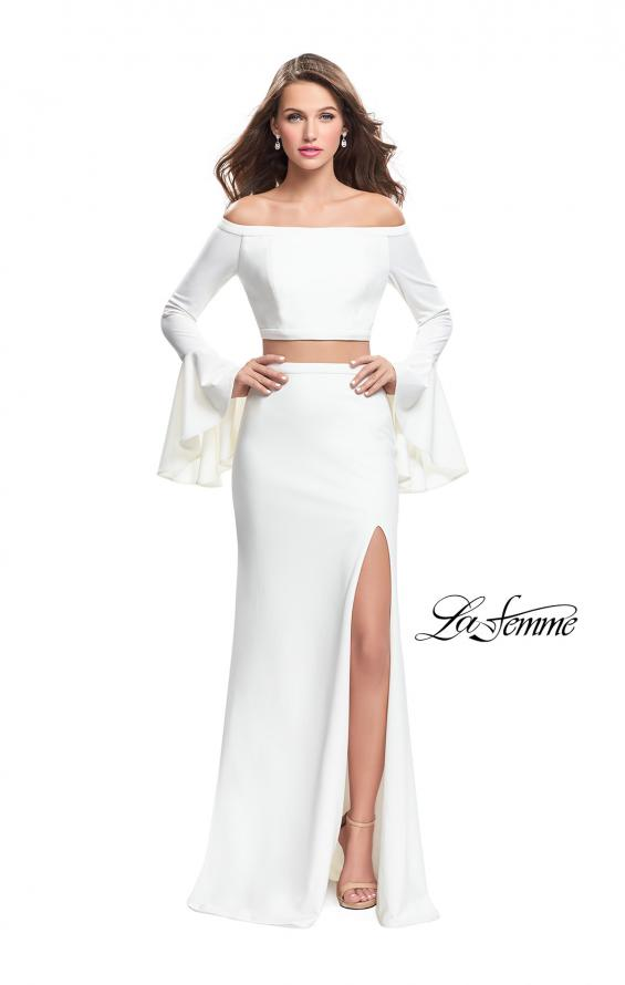 Picture of: Off the Shoulder Two Piece Dress with Flared Sleeves, Style: 25261, Detail Picture 3