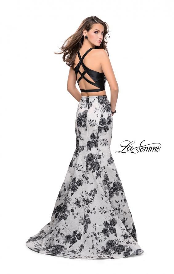 Picture of: Floral Two Piece Prom Gown with Strappy Back, Style: 25756, Back Picture