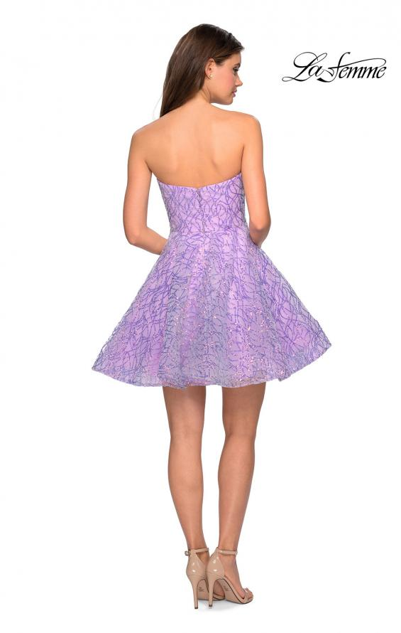 Picture of: Short Prom Dress with Sequins and A-Line Skirt, Style: 27517, Back Picture