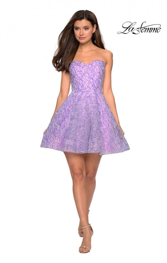 Picture of: Short Prom Dress with Sequins and A-Line Skirt, Style: 27517, Detail Picture 3