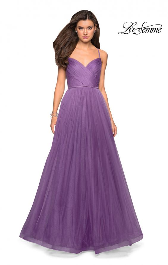 Picture of: Simple Tulle Prom Dress with Sweetheart Neckline in Lavender, Style: 27535, Detail Picture 4